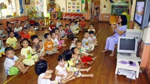Trường mầm non Họa Mi - Chạy trường mầm non, ưu tiên chuẩn an toàn