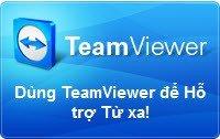 Trường mầm non Họa Mi - Bước 1: Nhấn vào biểu tượng này để tải phần mềm TeamViewer về máy tính