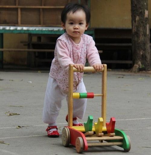 Xe đẩy gỗ được nhiều bố mẹ lựa chọn vì ít ảnh hưởng cho bé. Ảnh: myopera