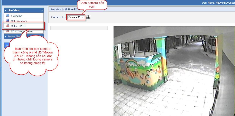 Hướng dẫn xem camera của trường mầm non tư thục Họa Mi - Tp HCM