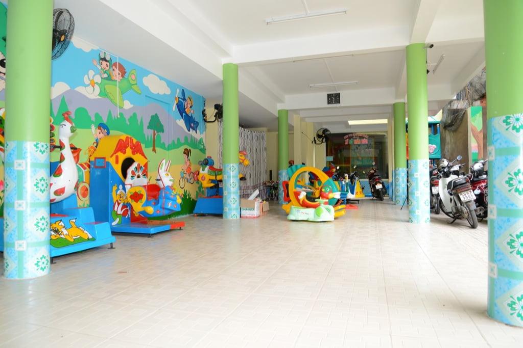Sân chơi của trường mầm non Họa Mi