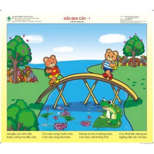 Bài thơ Gấu qua cầu - Ảnh suu tầm
