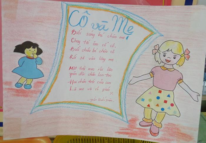 Bài thơ thiếu nhi: Cô và mẹ - Sưu tầm