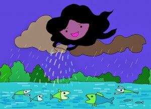 Hồ nước và mây - Truyện kể thiếu nhi - Ảnh sưu tầm