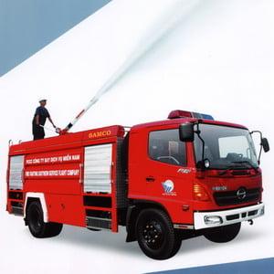 Xe chữa cháy - Thơ thiếu nhi - Ảnh minh họa