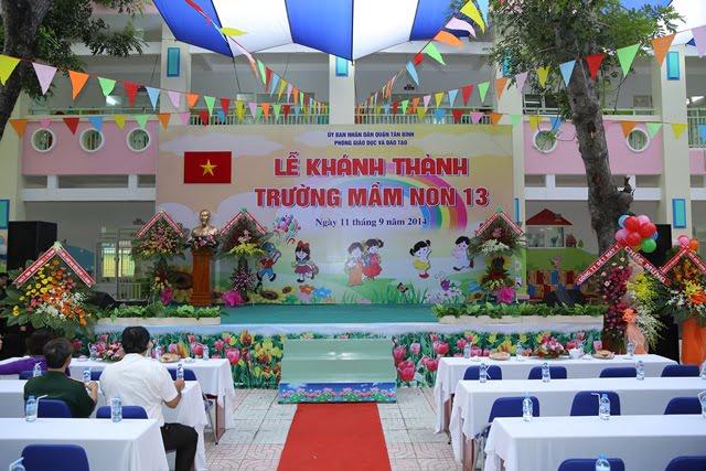Lễ khánh thành trường mầm non 13 - Quận Tân Bình