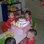 Sinh nhật bé Hồng Như (2 tuổi) tại trường mầm non Họa Mi