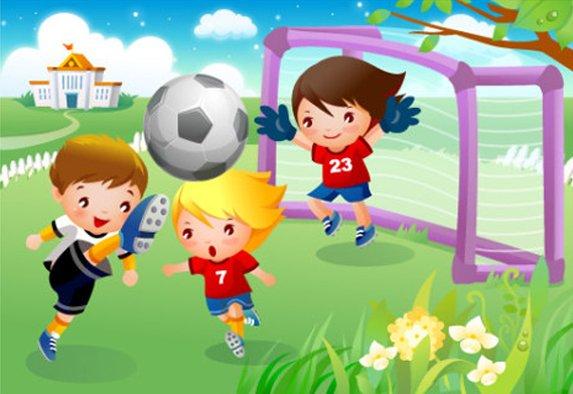 Trường mầm non Họa Mi và bóng đá (Ảnh sưu tầm)