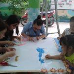 Hội thi làm tranh chủ đề Nhà Giáo VN tại trường mầm non Họa Mi 2016 - Hình 2