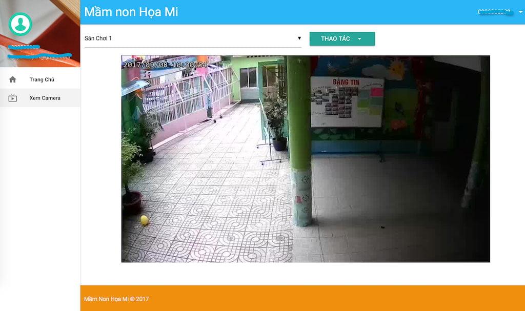 Hệ thống camera mới tại trường mầm non Họa Mi từ ngày 07-09-2017