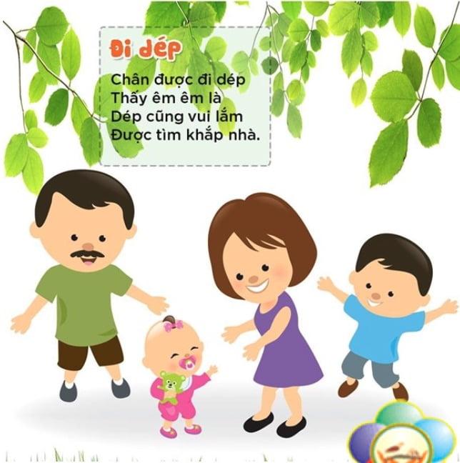 Đi dép | Bài thơ Đi dép | Thơ hay cho bé từ 1 đến 2 tuổi